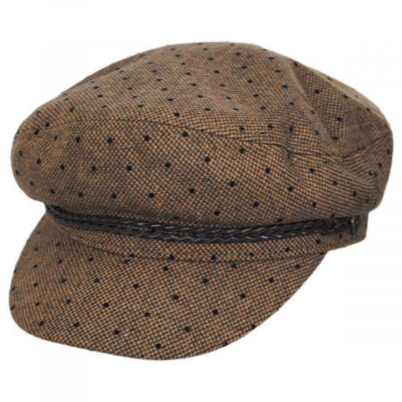 Brixton Hats Ashland Polka Dot Wool Blend Fiddler Cap