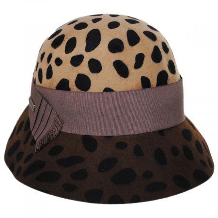 Hatch Hats Leopard Wool Felt Cloche Hat