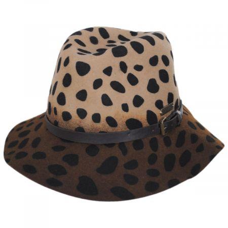 Hatch Hats Leopard Wool Felt Fedora Hat
