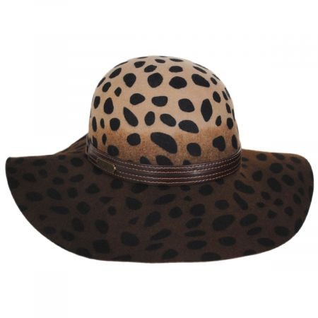 Leopard Wool Felt Floppy Hat alternate view 1