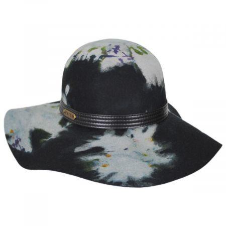 Tie Dye Wool Felt Floppy Hat