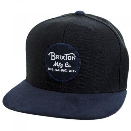 Brixton Hats Wheeler Snapback Baseball Cap - Black/Blue