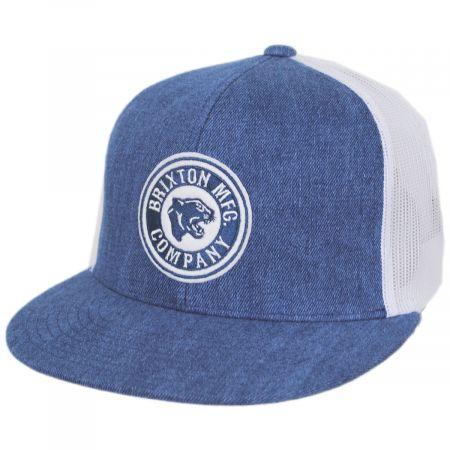 Brixton Hats Forte Mid Pro Trucker Snapback Baseball Cap - Denim Blue