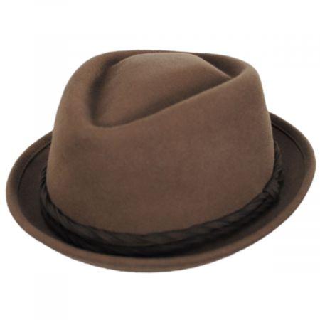 Gone Red Wool Diamond Crown Fedora Hat