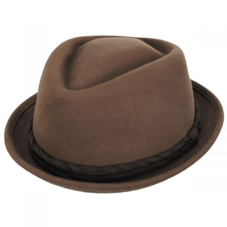 Goorin Bros Gone Red Wool Diamond Crown Fedora Hat