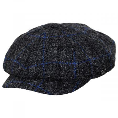 Harris Tweed Windowpane Plaid Wool Newsboy Cap