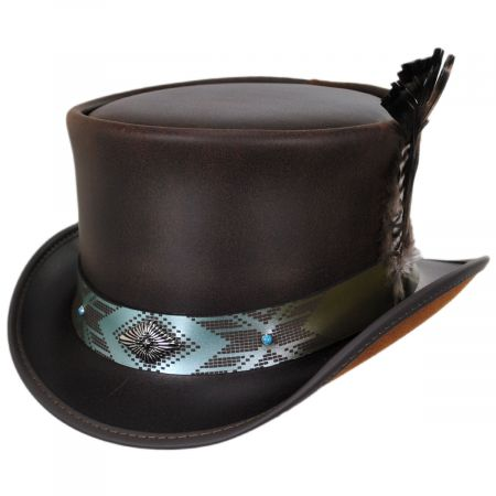 Head 'N Home Tapa Leather Top Hat