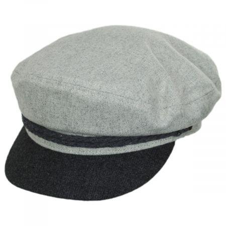 2-Tone Wool Blend Fiddler Cap