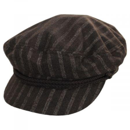 Striped Wool Blend Fiddler Cap