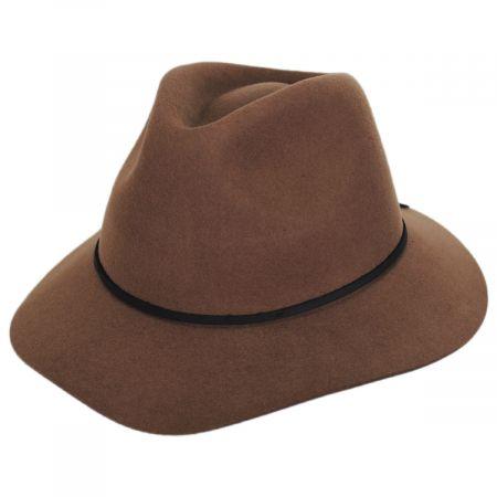 Brixton Hats Wesley Mocha Wool Felt Fedora Hat