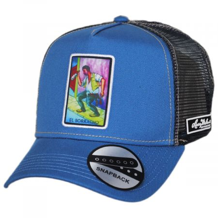 Larry Mahan Hats Loteria El Borracho Snapback Trucker Baseball Cap