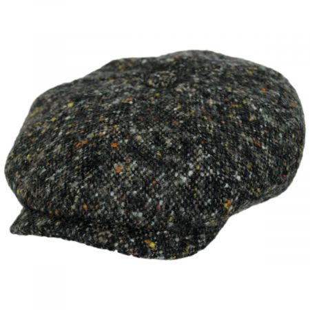 Donegal Marl Tweed Wool and Cotton Newsboy Cap alternate view 9
