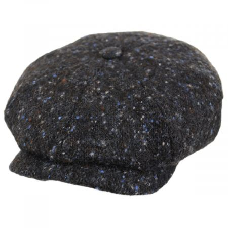 Donegal Marl Tweed Wool and Cotton Newsboy Cap alternate view 13