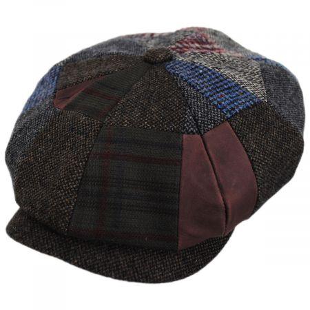 Stetson Patchwork Wool Blend Newsboy Cap