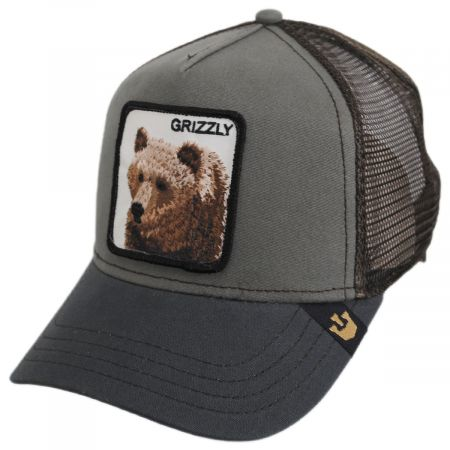 Goorin Bros Grizzly Bear Trucker Snapback Baseball Cap