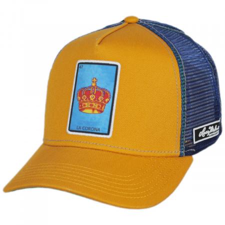 Larry Mahan Hats Loteria La Corona Snapback Trucker Baseball Cap