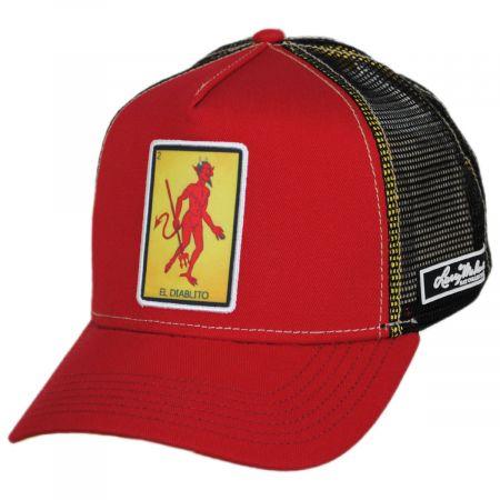 Larry Mahan Hats Loteria El Diablito Snapback Trucker Baseball Cap