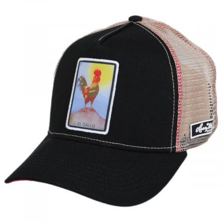 Larry Mahan Hats Loteria El Gallo Snapback Trucker Baseball Cap