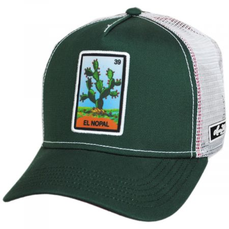 Larry Mahan Hats Loteria El Nopal Snapback Trucker Baseball Cap