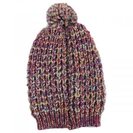 Slouchy Pom Beanie Hat alternate view 1