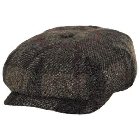 Stetson Harris Tweed Wool Newsboy Cap