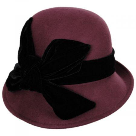 Velvet Wool Cloche Hat