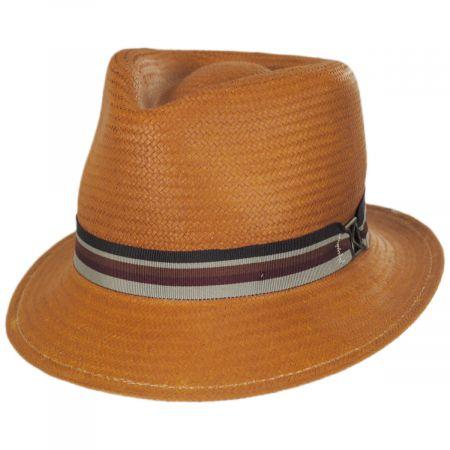 Kross Toyo Straw Trilby Fedora Hat