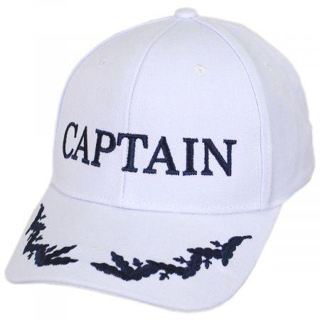 Captain Snapback Baseball Cap - White