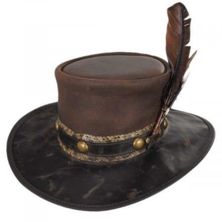 Frontier Leather Western Hat alternate view 1