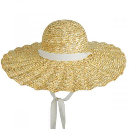 Scalloped Dolce Milan Straw Sun Hat