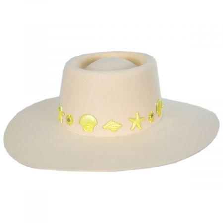 Seaside Wool Felt Boater Hat