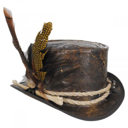 Head 'N Home Wiccan Leather Top Hat