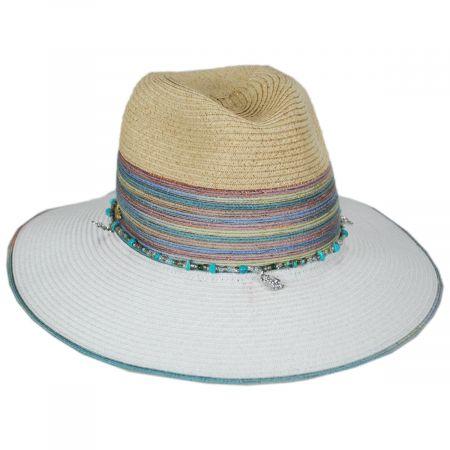 Nerissa Iridescent Toyo Straw Blend Fedora Hat