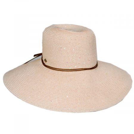 Waverly Sequin Toyo Straw Blend Swinger Sun Hat