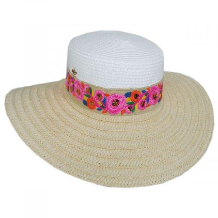 Cappelli Straworld Rica Toyo Straw Boater Hat