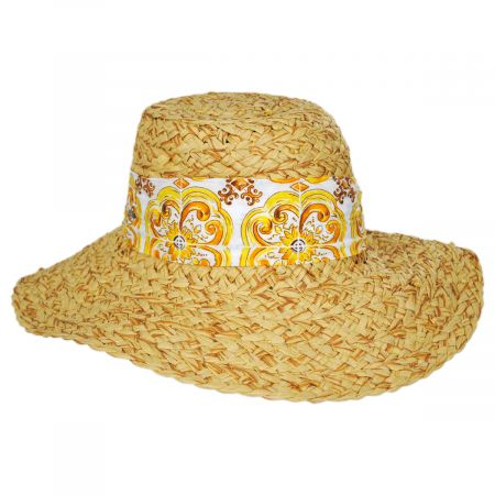 Citron Toyo Straw Swinger Hat alternate view 5