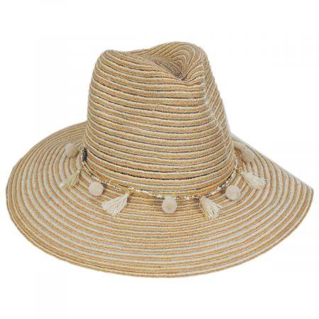 Tommy Bahama Raeni Toyo Straw Blend Safari Fedora Hat