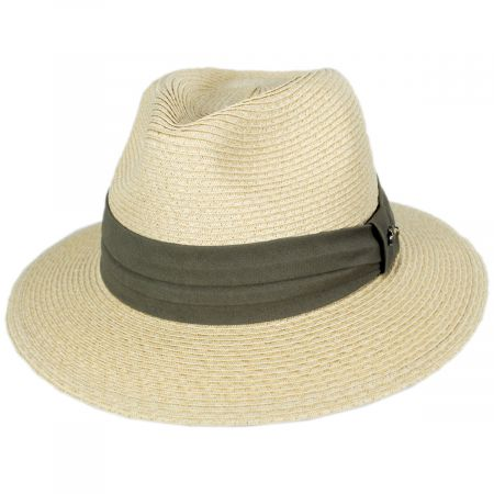 Tommy Bahama Cay Sal Toyo Straw Safari Fedora Hat