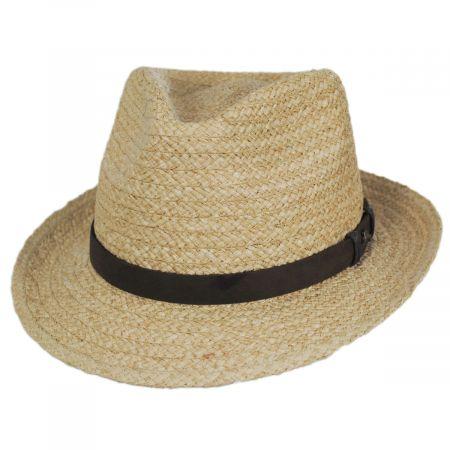 Azores Raffia Straw Fedora Hat