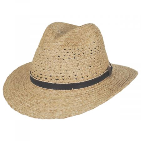 Inagua Raffia Straw Safari Fedora Hat alternate view 5