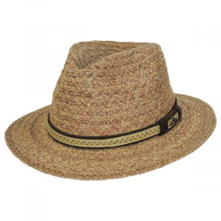 Tommy Bahama Navagio Raffia Straw Safari Fedora Hat
