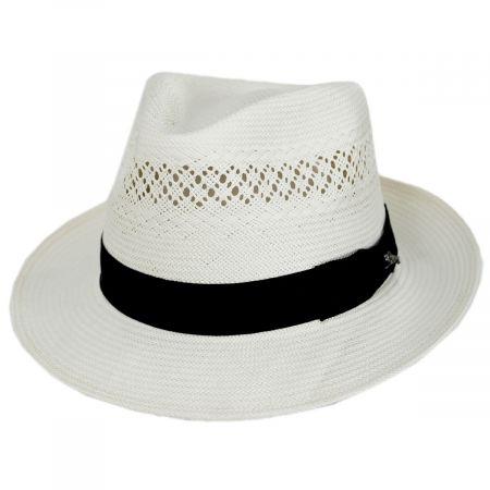 Concha Shantung Straw Fedora Hat