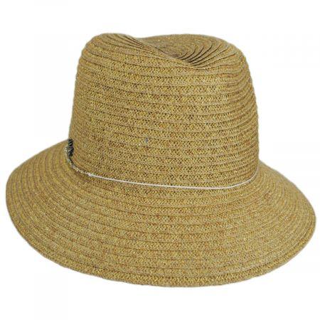Talin Toyo Straw Blend Fedora Hat