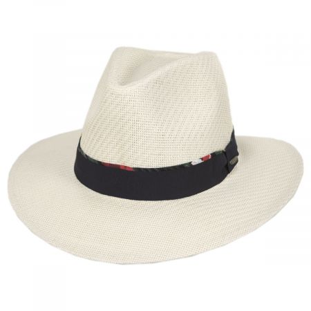 Scala Shadie Matte Toyo Straw Safari Fedora Hat
