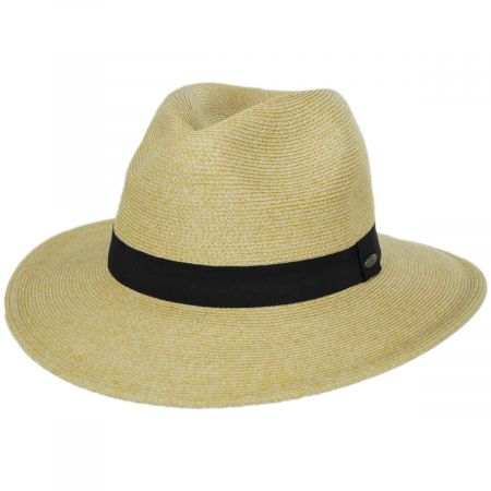 Scala Slider Toyo Straw Safari Fedora Hat
