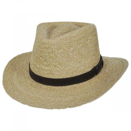 Scala Global Raffia Straw Outback Fedora Hat