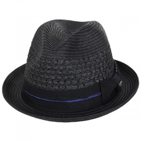 Scala Pentani Toyo Straw Fedora Hat