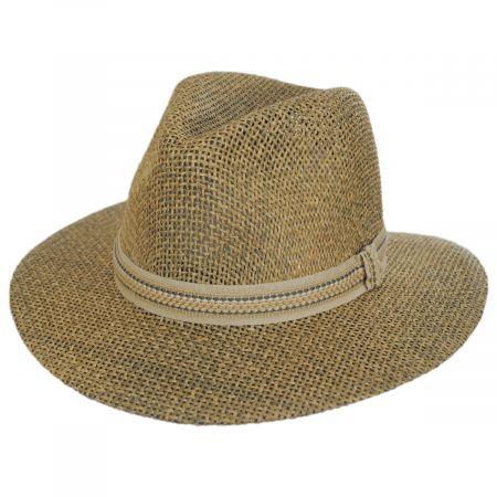 Dorfman Pacific Company Latitude Matte Toyo Straw Safari Fedora Hat