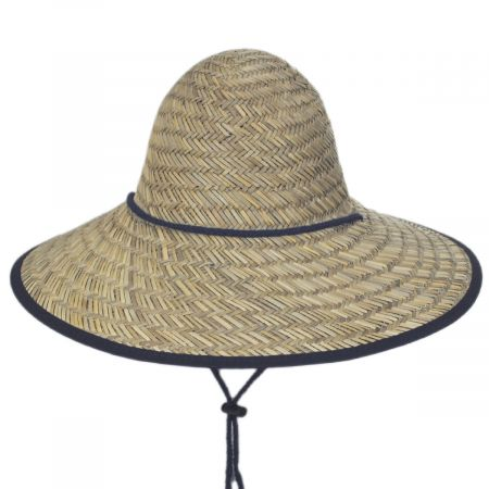 Dorfman Pacific Company Tillage Rush Straw Conical Coolie Hat