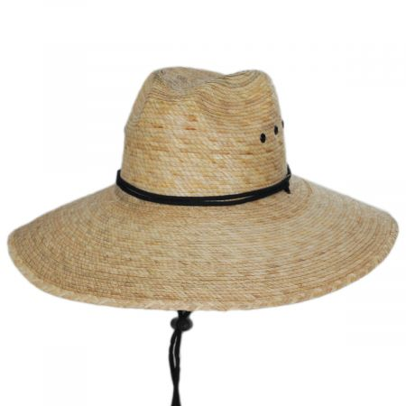 Dorfman Pacific Company Tideland Palm Straw Lifeguard Hat